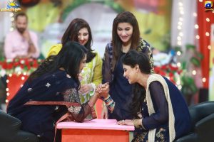 Javeria Saud with her Sister-in-law in Shaista Lodhi's Show