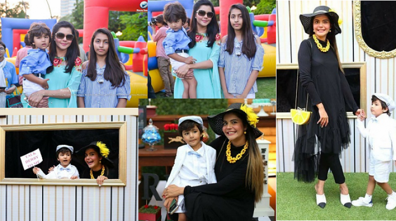 Beautiful Clicks of Nida Yasir with her Kids at a Recent Event