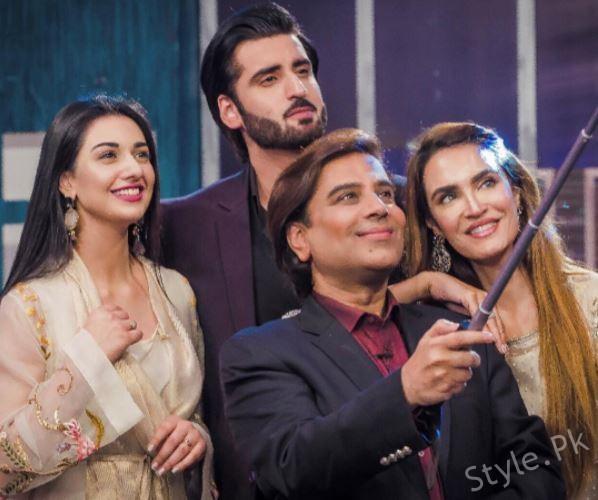 Sarah khan And Aagha Ali in Celebrity lounge season 2 on PTV