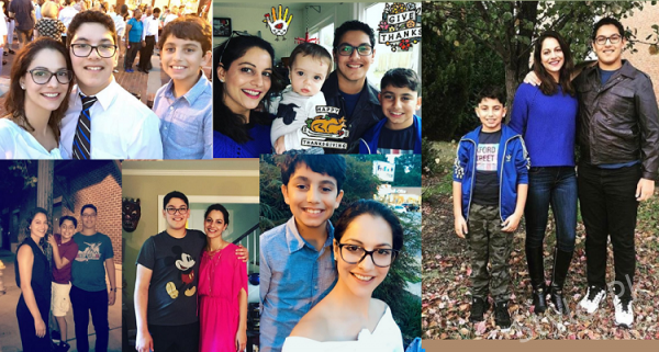 Beautiful Pictures of Famous Pakistani Model Cybil Chaudhry With Her Kids