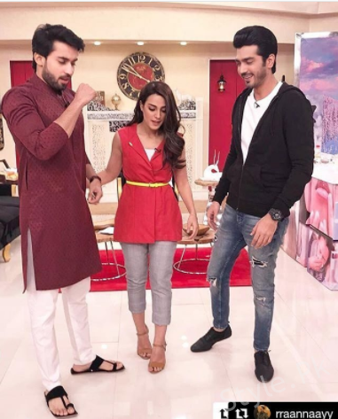 Iqra Aziz And Bilal Abbas At The Nida Yasir Morning Show