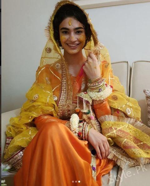 Model Saheefa Jabbar Khattak At Her Mayoun Ceremony