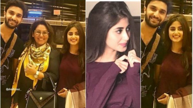 Sajal Aly And Ahad Raza Mir Spotted In Lahore