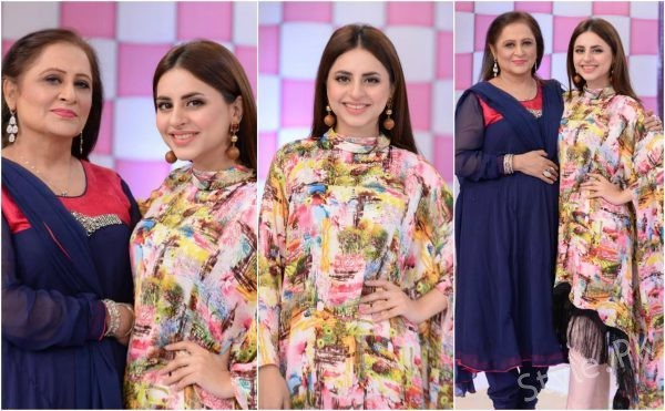 Fatima Effendi with her Mother in Good Morning Pakistan