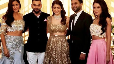 Pictures Of Anushka And Virat At Their Grand Wedding Reception