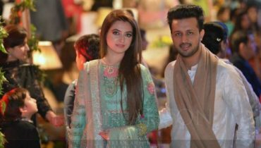 Atif Aslam And Sara Bharwana Recent Beautiful Click