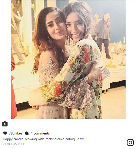 Sajal Ali Celebrated Her Birthday With Her Closest Friends