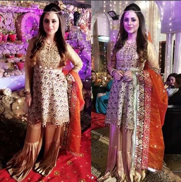fatima effendi and kanwar arsalan at a wedding stylepk
