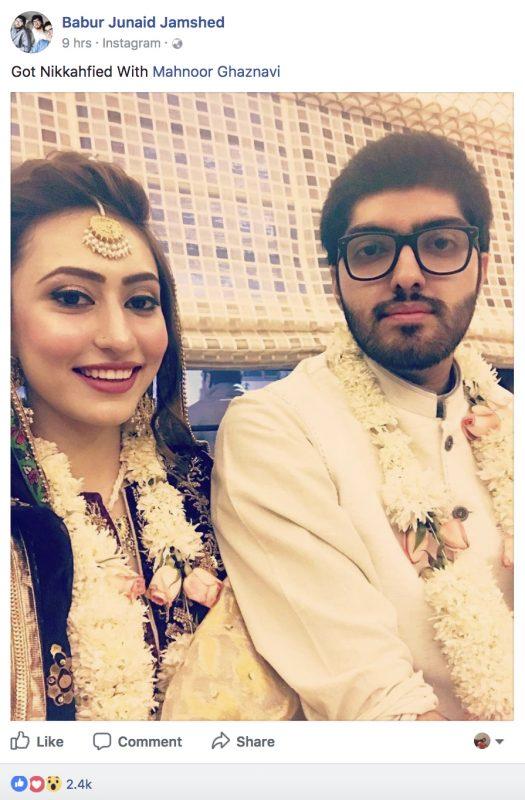 Junaid Jamshed Son Babur Junaid Got Nikkahfied