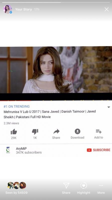 2018 Is Going To Be Sana Javed's successful Year