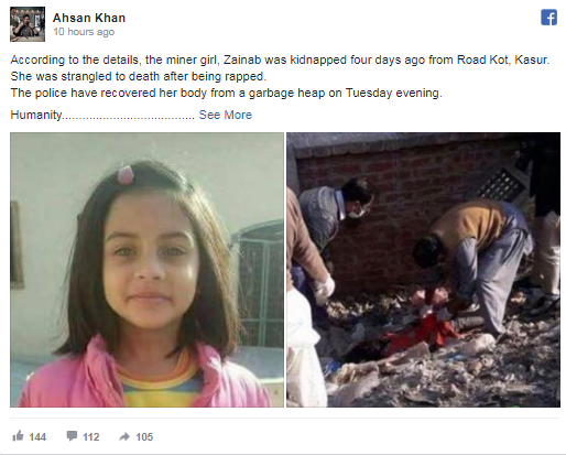 Pakistani Celebrities Stands Together For Justice For Zainab