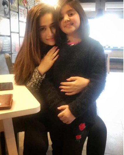 see Recent Click of Sana Javed with Her Little Fan!