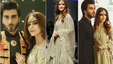 Maya Ali And Imran Abbas Walk On The Ramp For Maria B