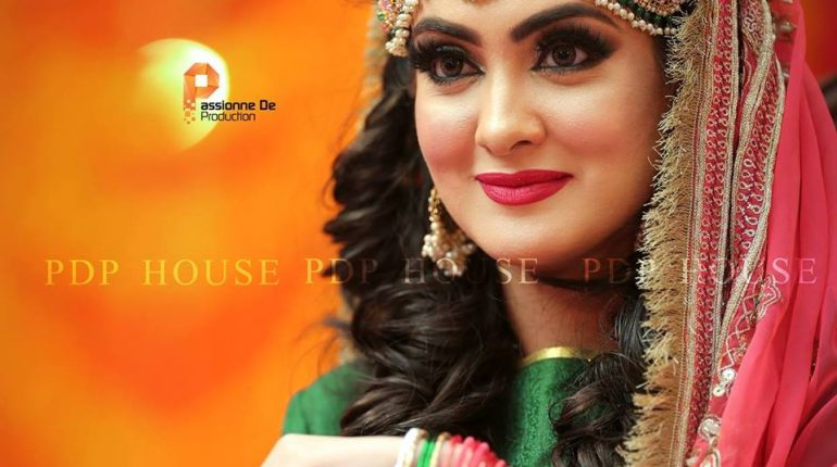 See Aleezay Tahir's Mehndi Look revealed - Aleezay Tahir Wedding