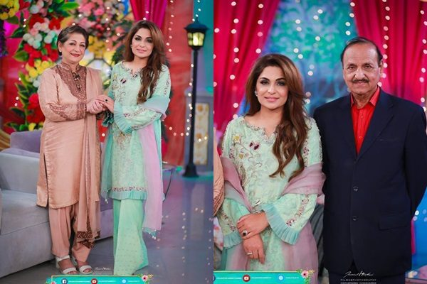 See Meera with her family in a Morning Show