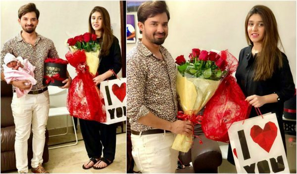 See Noman Habib celebrated Valentine's Day with Wife and Daughter