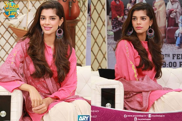 1a5f834bf4 Sanam Saeed Looks Gorgeous in Pink Dress
