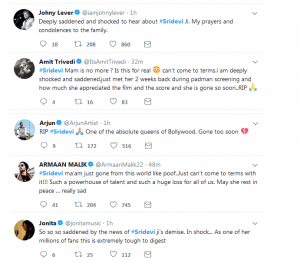 Celebrities Reacted To Sridevi's Death In India And Pakistan