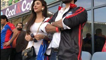 See Urwa Hocane and Farhan Saeed in Dubai Watching PSL