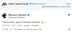 Aamir Liaquat Trolled Waseem Badami On His Birthday