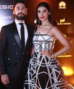 Hareem Farooq And Ali Rehman At The Launch Of Huawei Last Night