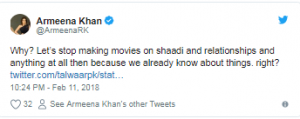 Armeena Khan And  Sanam Saeed Speak Against the Ban on PadMan Movie