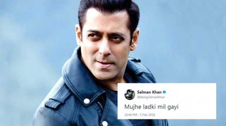Salman Khan Finallly Founds His Dream Girl