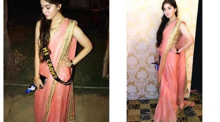 See Arisha Razi Looks Beautiful in Saree