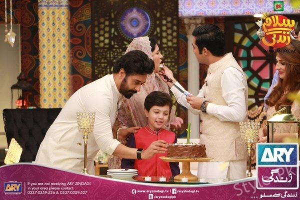 See Iqrar ul Hassan with his Family in Salam Zindagi