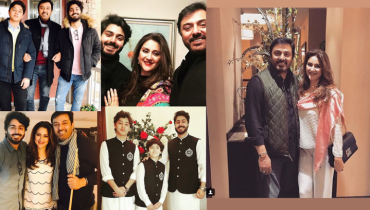 Beautiful Clicks Of Nouman Ijaz With His Wife And Family