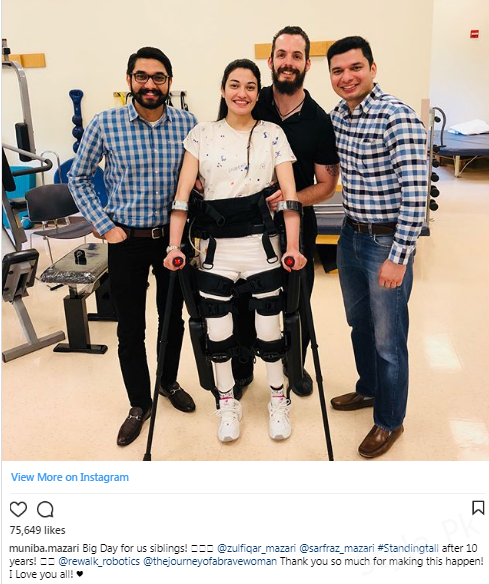 Muniba Mazari Stands On Her Own For The First Time In Ten Years