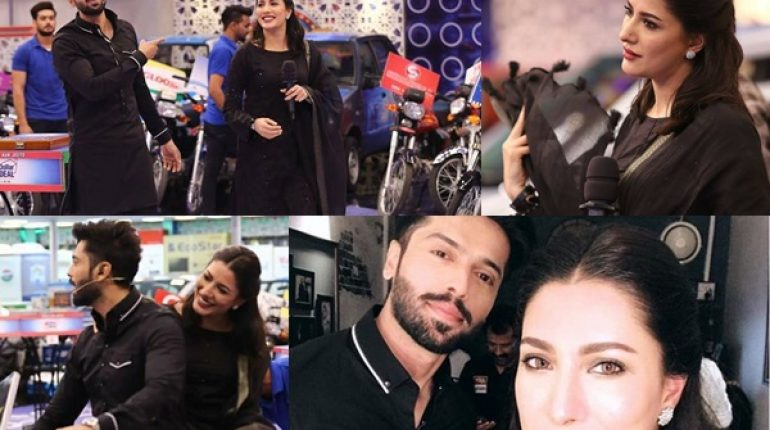 See Mehwish Hayat with her Hero Fahad Mustafa in Jeeto Pakistan