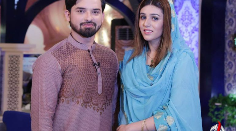 See Noman Habib with his Wife in Ramzan Transmission