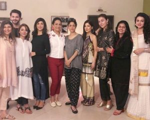 Pictures Of Bushra Ansari Star Studded Eid Dinner Party