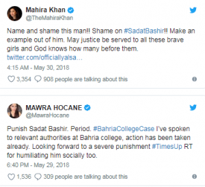 Celebrities React To Bahria College Molestation Incident