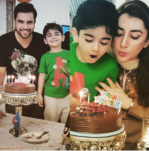 Beautiful Clicks Of Junaid Khan With His Wife Amna And Son