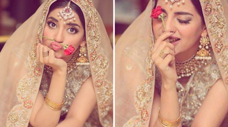Beautiful Clicks From Latest Bridal Shoot Of Saboor Aly