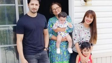 sEE Ayeza Khan and Danish Taimoor with their Kids in USA