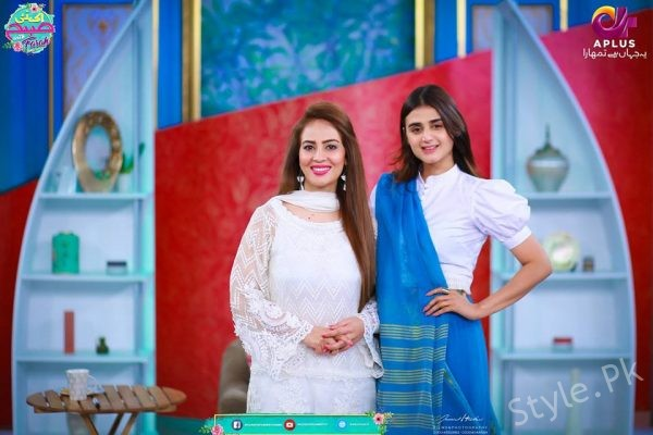 See Hira Mani in Morning Show EK Nayi Subha With Farah Sadya