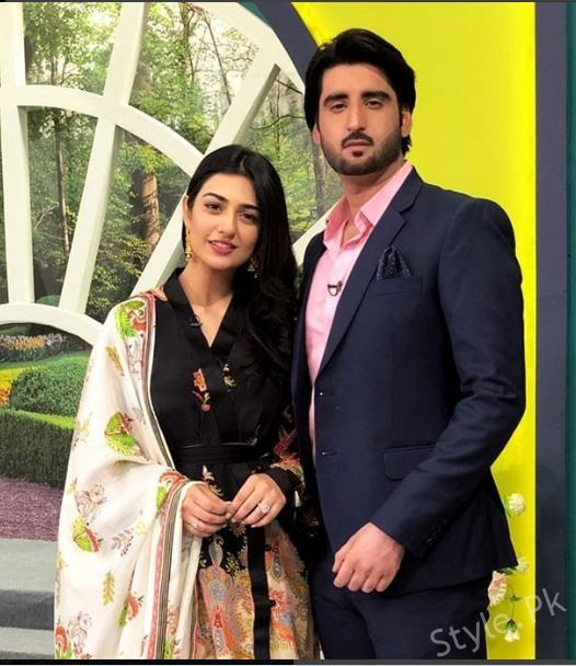 See Lovely Couple Sarah Khan and Agha Ali in Jago Pakistan Jago
