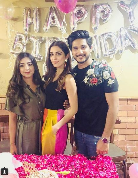 See Maya Ali got a Birthday Surprise from her Bhai and Bhabhi