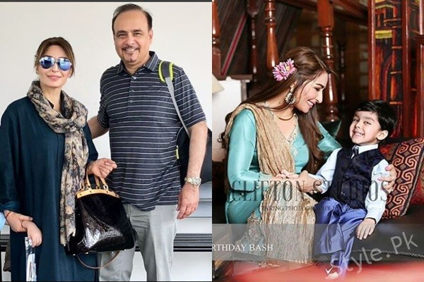 Recent Pictures Of Reema Khan With Her Husband And Son