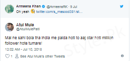 Armeena Rana Khan's Epic Reply To Indian Hater Is Winning the Internet