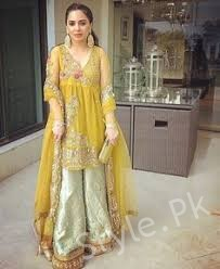 Mayoo and Mehndi Dresses 2018 , Style.Pk