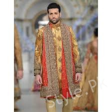 d4827aaa64 Outfits for grooms by HSY are available in different charges and wide color  range. His designs are suitable for mehndi since they are deeply rooted in  ...