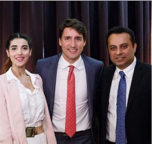 Hareem Farooq Meets Canadian Prime Minister Justin Trudeau