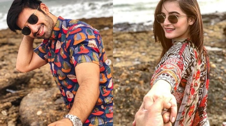 See Aiman Khan and Muneeb Khan are True Beach Lovers
