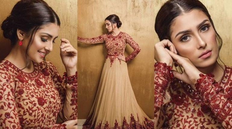 See Ayeza Khan's Beautiful Look for Eid Show at Bol News