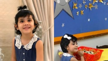 See Ayeza Khan's daughter Hoorain Taimoor's First Day at School
