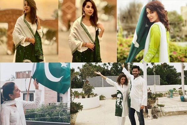 See Pakistani Celebrities Celebrating 71 Years of Independence